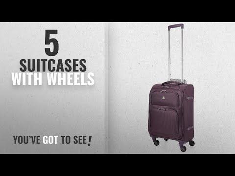"Top 10 Suitcases With Wheels [2018]: Aerolite 22x14x9"" Carry On MAX Lightweight Upright Travel"