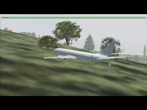 Simulation of Flight 129 Air China crashed near Gimhae
