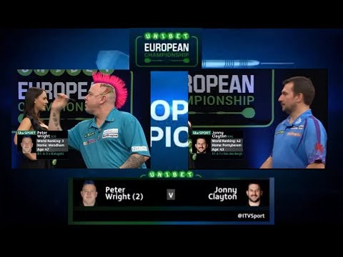 European Darts Championship 2017 Round 2 Wright vs Clayton