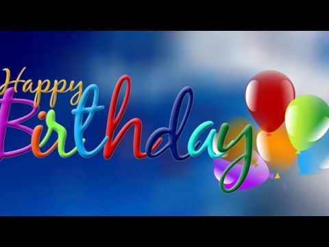 С Днем рождения на англ. яз.