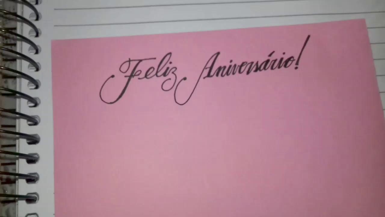 Feliz Aniversário Youtube: COMO FAZER BILHETE DE FELIZ ANIVERSÁRIO