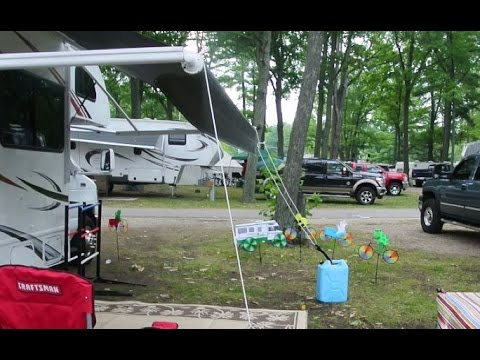 Using The Valterra Quot Happy Hook Quot Rv Awning Tiedown Youtube