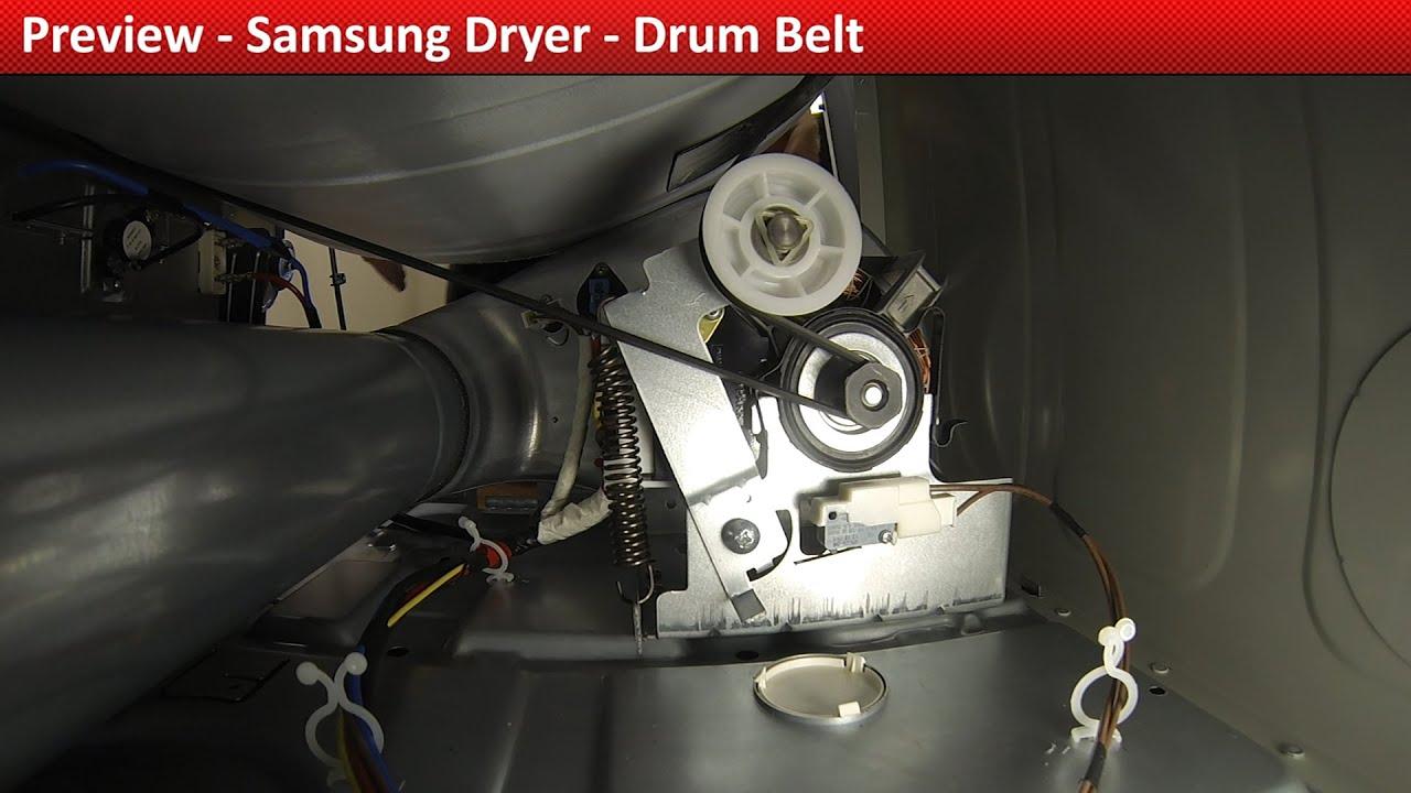 Drum Belt  DV422EWHDWR Samsung Dryer  YouTube