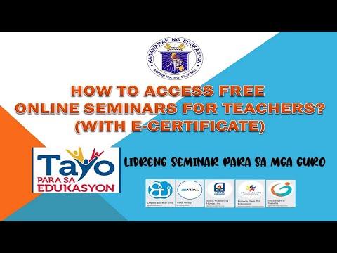 Free Online Seminars for Teachers