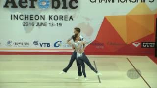 Spain 2 (ESP) - 2016 Aerobic Worlds, Incheon (KOR) - Qualifications Mixed Pair