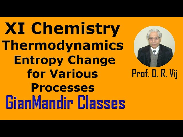XI Chemistry | Thermodynamics | Entropy Change for Various Processes by Ruchi Ma'am