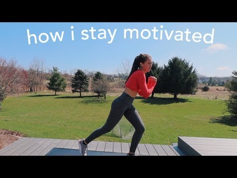 how i've been staying motivated (workout with me)