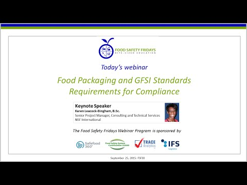 Food Packaging And GFSI Standards - Requirements For Compliance