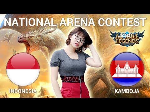 INDONESIA VS KAMBOJA - National Arena Contest Cast by Kimi Hime - 25/04/2018