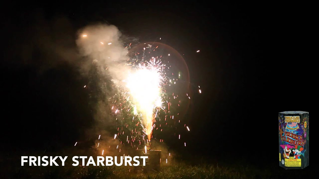 FRISKY STARBURST - FOUNTAIN - WORLD CLASS FIREWORKS - YouTube