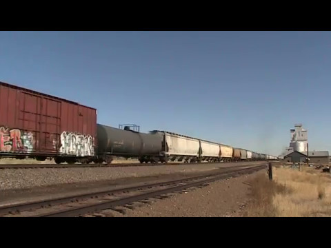 Union Pacific Flat wheel express Burns, Wyoming.