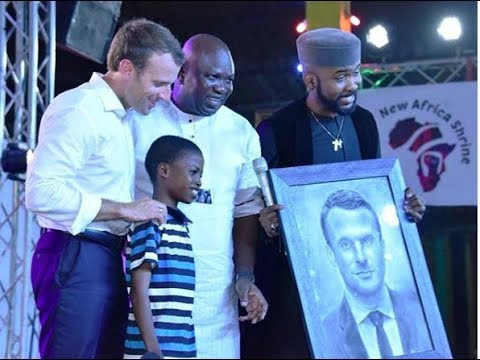Incredibly talented 11-Year Old Kareem Paints French President Emmanuel Macron