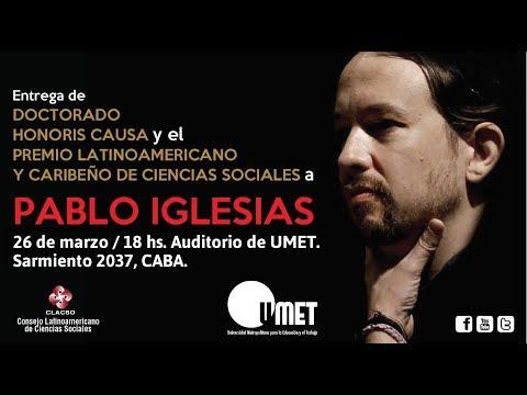 Pablo Iglesias Turrión -  Doctorado Honoris Causa