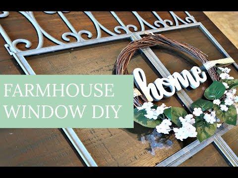 FARMHOUSE WINDOW DIY | DOLLAR TREE HAUL