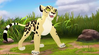 The Lion Guard: Meet Makucha! + Final Battle | The Imaginary Okapi HD Clips(Two short clips showing leopard villain Makucha's 'intro' and his 'outro'. He chased Ajabu all the way into the Pride Lands, and boy, does he want that okapi..., 2016-07-08T14:11:27.000Z)