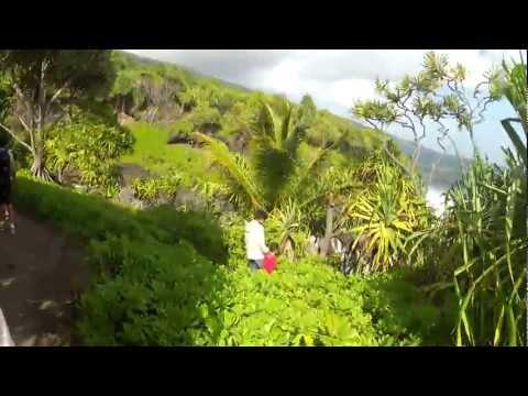 Plantation Road to Hana Banyan Tree Nice walk trail to the Pacific Ocean