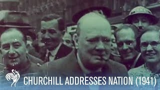 Winston Churchill Addresses The Nation After the German Blitz (1941) | War Archives