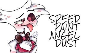 angel dust-hazbin hotel-speedpaint
