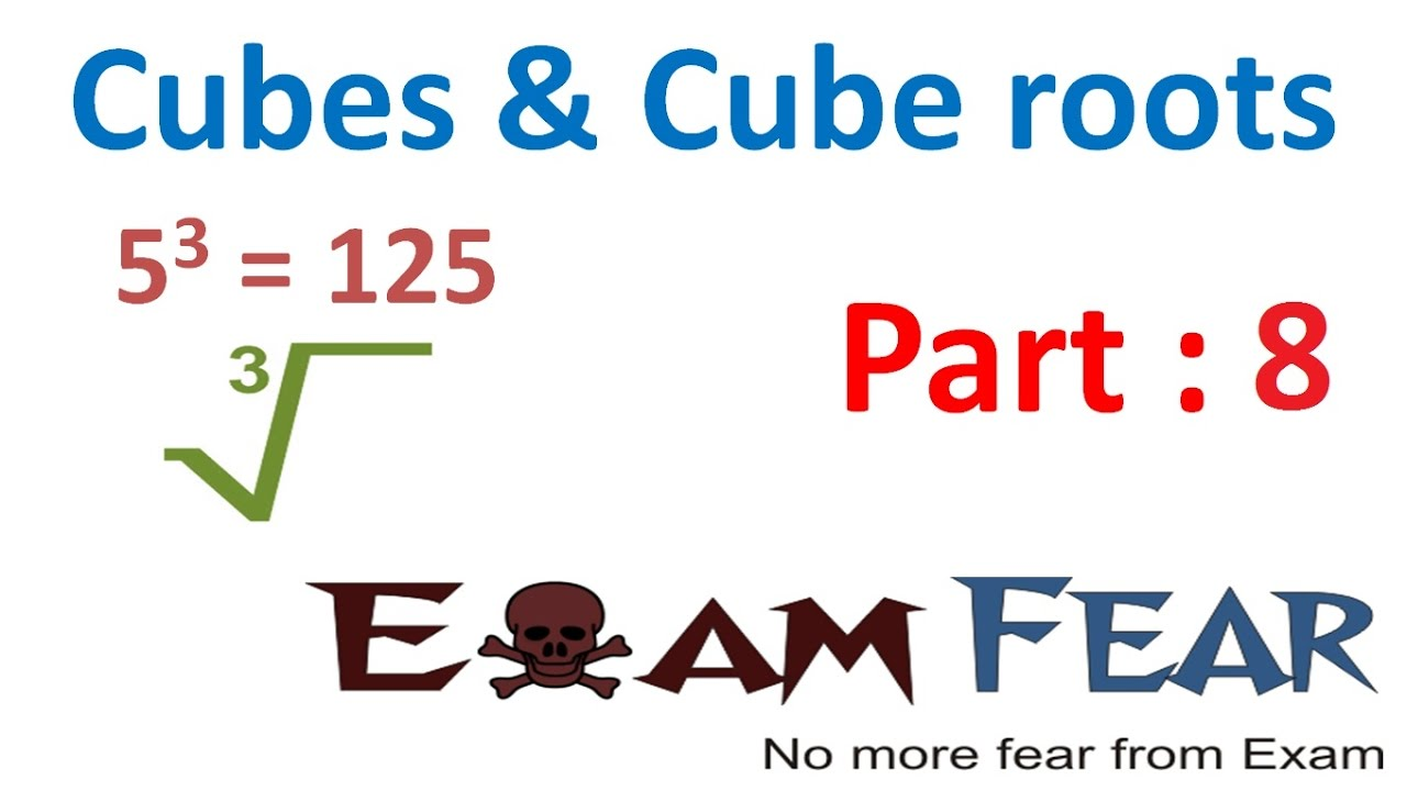 hight resolution of Maths Cube and Cube Roots part 8 (Questions : Cube Root) CBSE Class 8  Mathematics VIII - YouTube