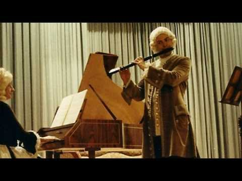 Johann Sebastian Bach - SONATA in Do maggiore BWV 1033 per flauto e basso continuo