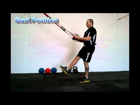 TRX Assisted Pistol Squat Personal Trainer Perth