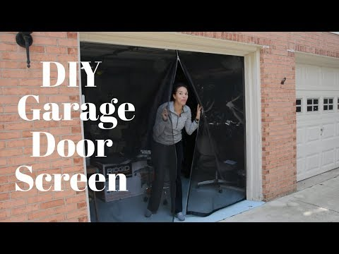 Make Your Own Garage Door Screen – DIY Tutorials – Thrift Diving