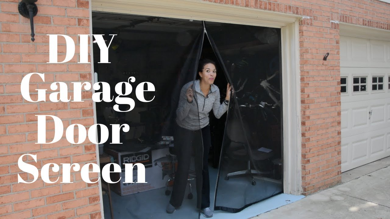 Make Your Own Garage Door Screen Diy Tutorials Thrift