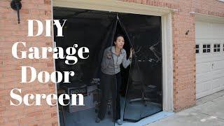 Make Your Own Garage Door Screen - DIY Tutorials - Thrift Diving