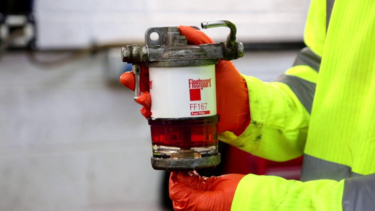 how to drain a fuel sediment bowl [ 1280 x 720 Pixel ]