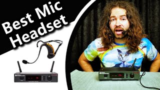 Best Wireless Microphone System Headset Headworn Mic Review Compare to Samson Airline 99 & 88 & 77