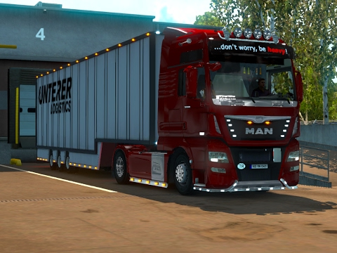 ETS2 - MAN TGX XXL - TRİP:LUXEMBOURG - CAMBRİDGE - BUSİNESS:TOY