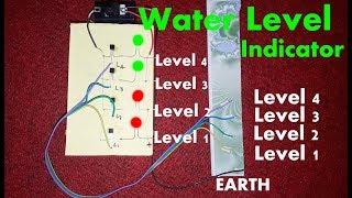 Homemade Water Level Indicator Using Transistor