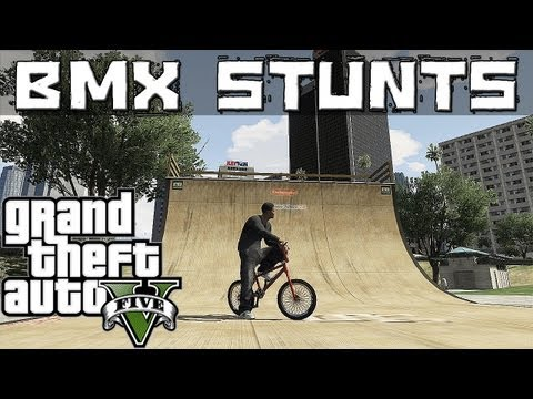 GTA 5 Epic BMX Stunts (Grinds, Flip ,Spin, Wallride, Transfer)
