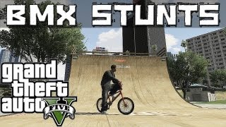 GTA 5 Epic BMX stunts (Grinds, Flip ,Spin, wallride, transfer)