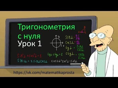 Контрольная работа по тригонометрии № Тригонометрия с нуля Урок 1