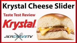 Krystal Cheese Slider Taste Test Review 🍔🍟| JKMCraveTV