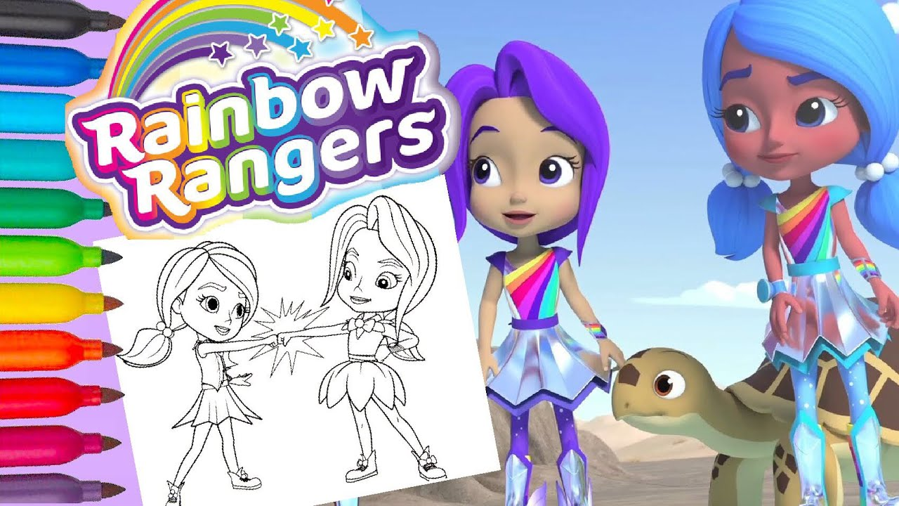Rainbow Rangers High Five Bonnie Blueberry And Indigo Allfruit Coloring Pages And Nursery Rhymes Youtube