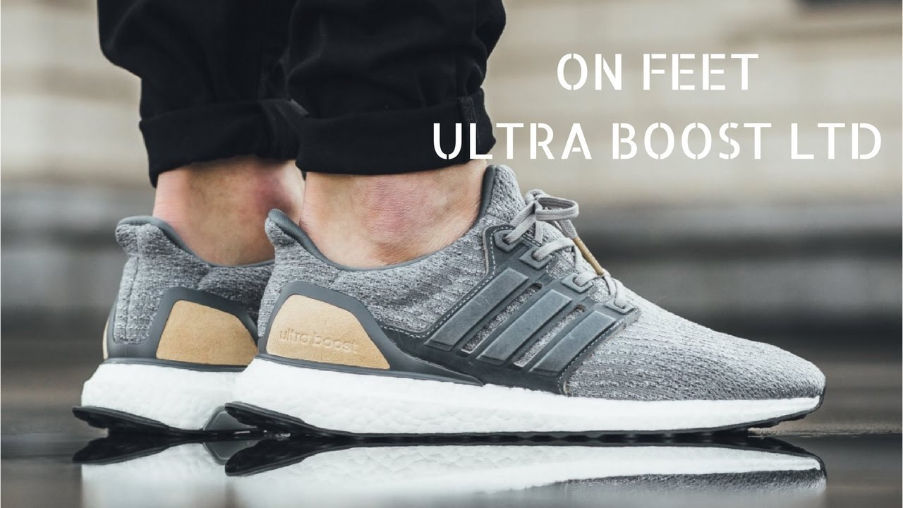841c2e058f89c Adidas Ultraboost 3.0 LTD (Grey Leather Cage) - ON Feet - YouTube