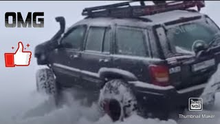 jeep grand cherokee wj deep snow play