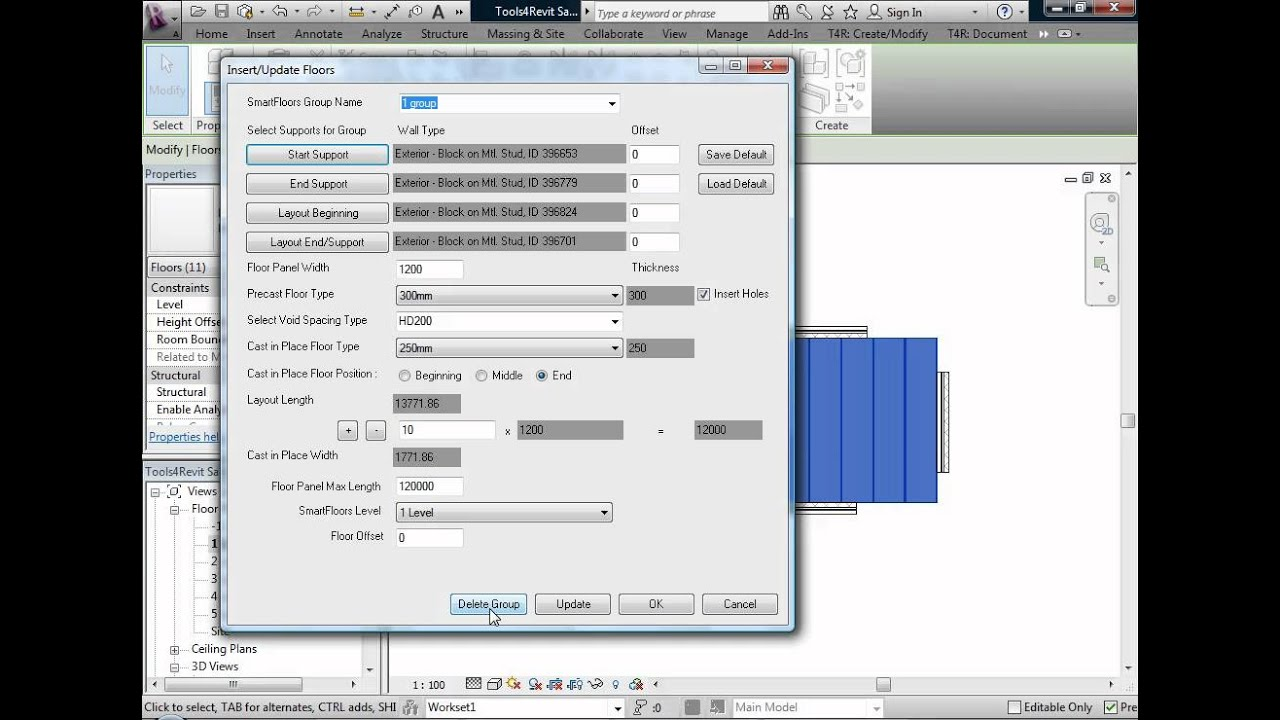 revit how to draw floor grill