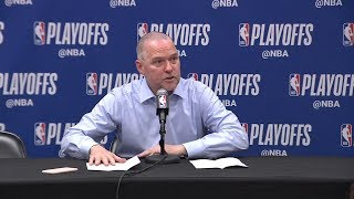 Mike Malone Postgame Interview - Game 7 | Nuggets vs Blazers | 2019 NBA Playoffs