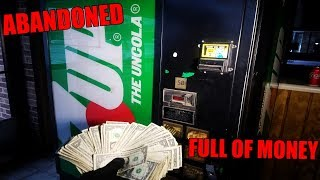ABANDONED VENDING MACHINE FULL OF MONEY! We found money breaking into an abandoned soda machine!