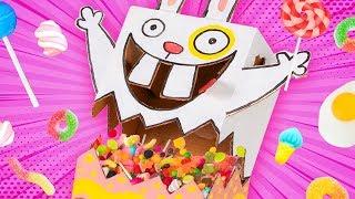 DIY Candy Dispenser - Easter Bunny | Cardboard Crafts Ideas for Kids