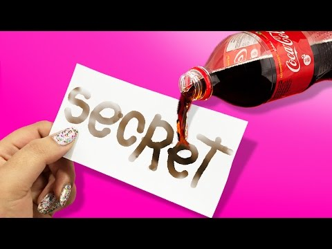 DIY COCA COLA INVISIBLE INK?! Send SECRET Messages!
