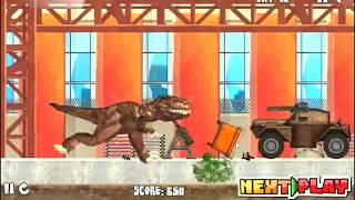 Tirano Dinosaurios comen los seres humanos y de la policía 2| Tirano Dinosaurios Juego |de dibujos animados de CA