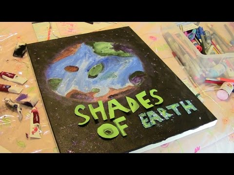 Booktube-A-Thon Day 3 Painting, Glitter, Space, Oh My!