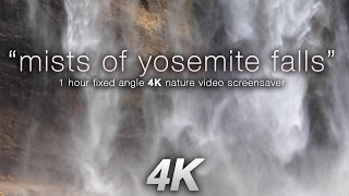 """Mists of Yosemite Falls"" 4K Waterfall Screensaver Nature Video"
