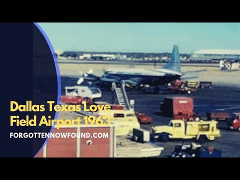 Found Footage: 1963 Dallas Love Field Airport Planes Taking Off and Landing