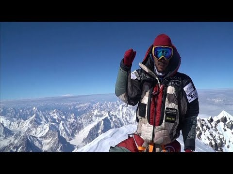 video: Former Gurkha smashes record for scaling world's tallest peaks - and rescues three climbers on the way