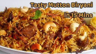Mutton Biryani Using Pressure Cooker | Easy மட்டன் பிரியாணி recipe By Healthy & Yummy
